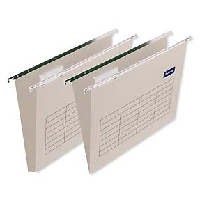 Lyreco suspension files for drawers A4 V chamois 220 g/m² - box of 25