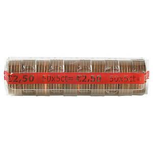 Etui à monnaie transparent - 5 centimes d euro - paquet de 250