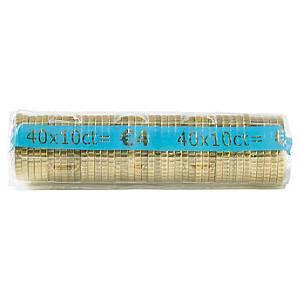 Etui à monnaie transparent - 10 centimes d euro - paquet de 250