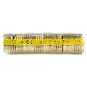 Etui à monnaie transparent - 20 centimes d euro - paquet de 250