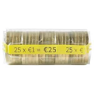 Etui à monnaie transparent - 1 euro - paquet de 250