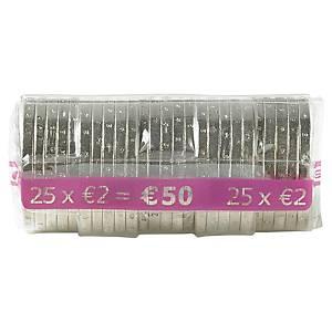 Etui à monnaie transparent - 2 euros - paquet de 250