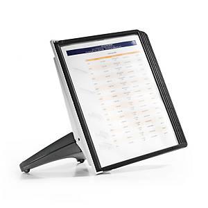Durable Sherpa 5540 Soho displaysysteem met statief, 5 panelen, PP, zwart