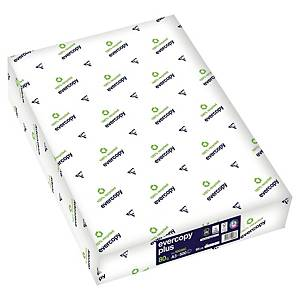 Papír Evercopy plus A3 80gm2, bílý, recyklovaný, 500 listů