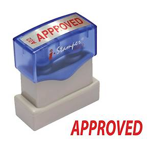I-STAMPER A02 SELF INKING STAMP   APPROVED   ENGLISH LANGUAGE - RED