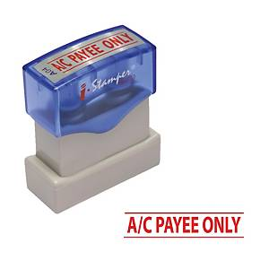 I-STAMPER A04 SELF INKING STAMP   A/C PAYEE ONLY   ENGLISH LANGUAGE - RED