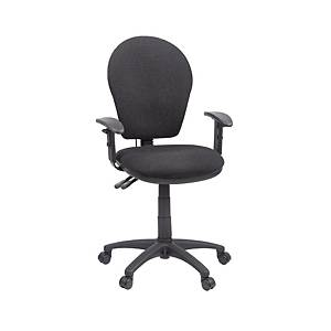 GL6 High Back Operators Chair With Inflatable Lumbar - Charcoal