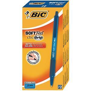 Bic Softfeel Clic Grip kuulakärkikynä mekanismilla 0,32mm sininen