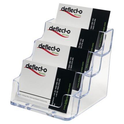 Visitenkartenbox Deflecto 70841 Für 50 Karten Pro Fach