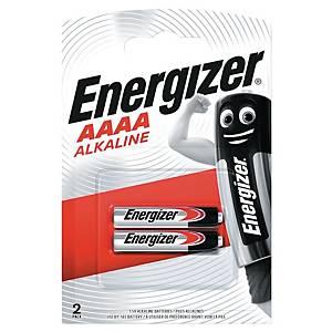 Batterier Energizer Alkaline AAAA, pakke à 2 stk.