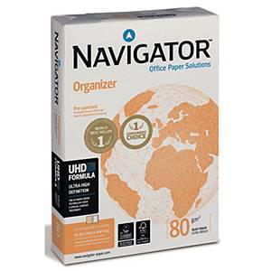 Kopierpapier Navigator Organizer A4, 80 g/m2, 4fach gelocht, weiss, Pk. à 500 Bl