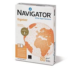 Multifunktionspapir Navigator Organizer, med hul, A4, 80 g, 5 x 500 ark