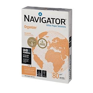 Kopierpapier Navigator Organizer, A4, 80g, 4fach gelocht, weiß, 500 Blatt