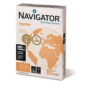 Navigator Organizer lefűzhető papír, A4, 80 g/m², fehér, 500 ív/csomag