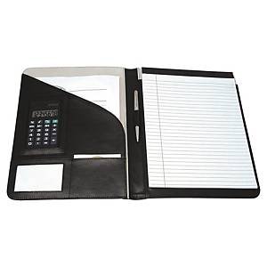 Monolith 2925 conference folder leather with calculator black