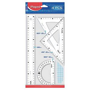 Maped 4 Piece Ruler Set