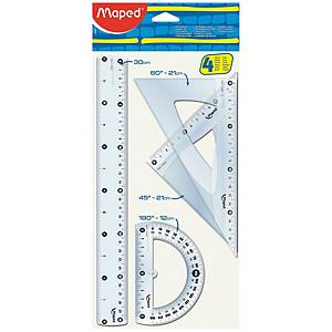 MAPED 4 PIECE RULER SET