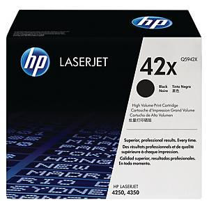 HP 42X High Yield Black Original Laserjet Toner Cartridge (Q5942X)