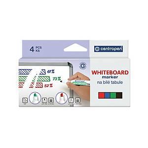 Popisovač na biele tabule Centropen 8559, guľatý hrot, balenie 4 farieb