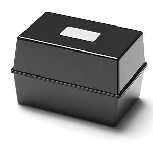 Black 127 X 76mm Card Index Box