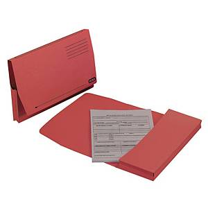 Elba Full Flap Foolscap Document Wallet Red - Box of 50