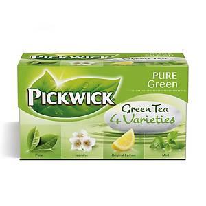 Te Pickwick Grøn te varianter, pakke a 20 breve