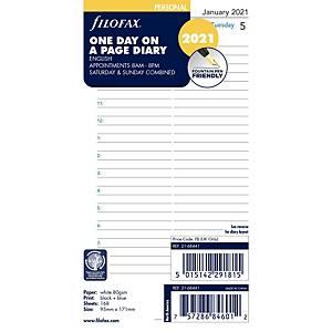 Filofax Personal Organiser Refill - Page A Day