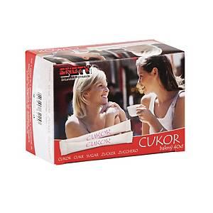 Hygienicky balený kryštálový cukor, balenie 40 kusov à 5 g