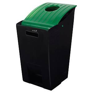Poubelle tri sélectif R-14000 - 26 L - noir/vert