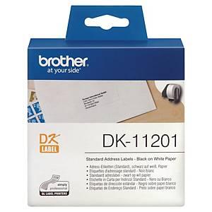 Brother DK11201 adresetiketten op rol voor labelprinter, wit, per 400 etiketten