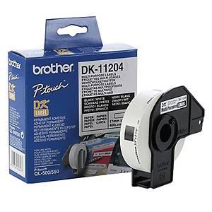 BROTHER ป้ายพิมพ์ฉลาก DK-11204 17x54 มม. 400ดวง