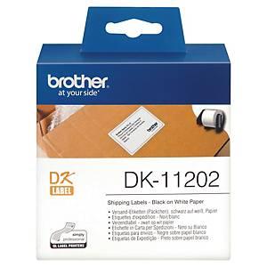 Étiquettes d'expédition Brother DK11202 pour étiqueteuse, le rouleau de 300
