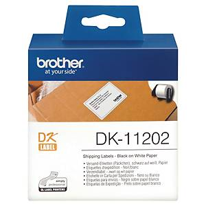Brother DK11202 Label 62mm x 100mm - Roll of 300 Labels