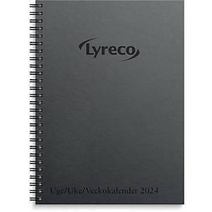 Ugekalender, Lyreco, 2020, 14,8 x 21,4 cm, sort