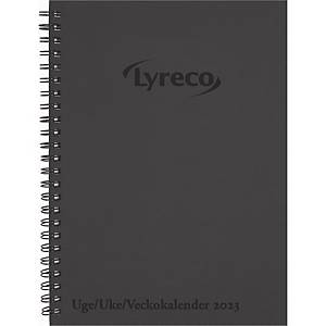 Kalender Lyreco Veckokalender spiralrygg svart