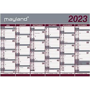 Vægkalender Mayland 8075 00, 2 x 6 måneder, 2020/21, 70 x 100 cm