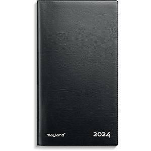 Kalender Mayland 0900 00, måned, 2020, 8,8 x 16,6 cm, lakvinyl, sort