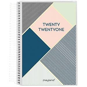 Studiekalender Mayland 8025 00, dag, 2020/21, 8 x 12,6 cm, 4 illustrationer