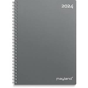 Kalender Mayland 2000 00, uge, 2020, A5, pp-plast, grå