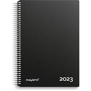 Kalender Mayland 2180 00, dag/time, 2020, 16,8 x 23,5 cm, sort
