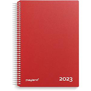 CALENDAR MAYLAND 2180 10 TIME CALENDAR VINYL RED
