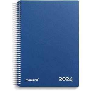 Kalender Mayland 2180 20, dag/time, 2020, 16,8 x 23,5 cm, blå