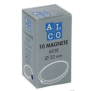 Haftmagnet Alco 6838, Durchmesser: 32mm, blau, 1 Magnet
