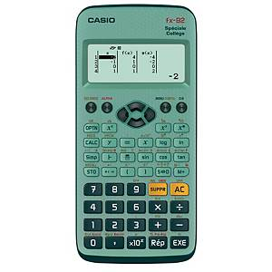 Calculatrice scientifique Casio FX-92+ Spéciale Collège - 10+2 chiffres - verte