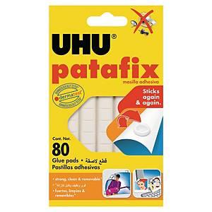 Pastille adhésive Uhu Patafix - blanche - étui de 80
