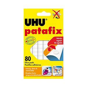 UHU PATAFIX ADHESIVE PADS WHITE - PACK OF 80