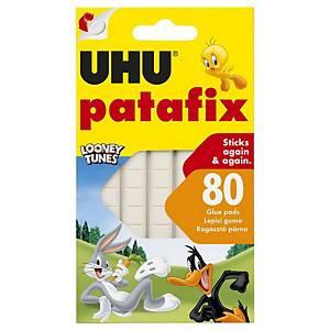 Lepiace plastelínové štvorčeky UHU Patafix biele, 80 kusov