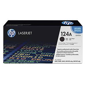 HP 124A Q6000A laservärikasetti musta