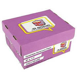 IQ CARBONLESS CONTINUOUS PAPER 4 PLY 9   X 11  -BOX OF 500 SHEETS