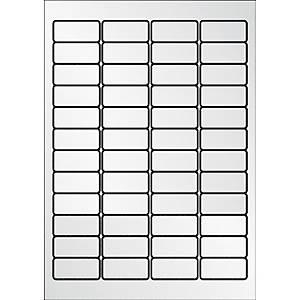 Caixa 960 etiquetas de poliéster Apli 10066 - 45,7x21,2 mm - metalizado